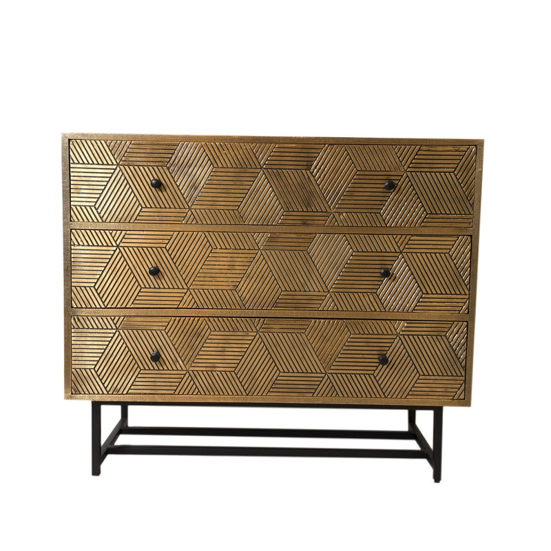 Brass  Chest - 3 Drawer