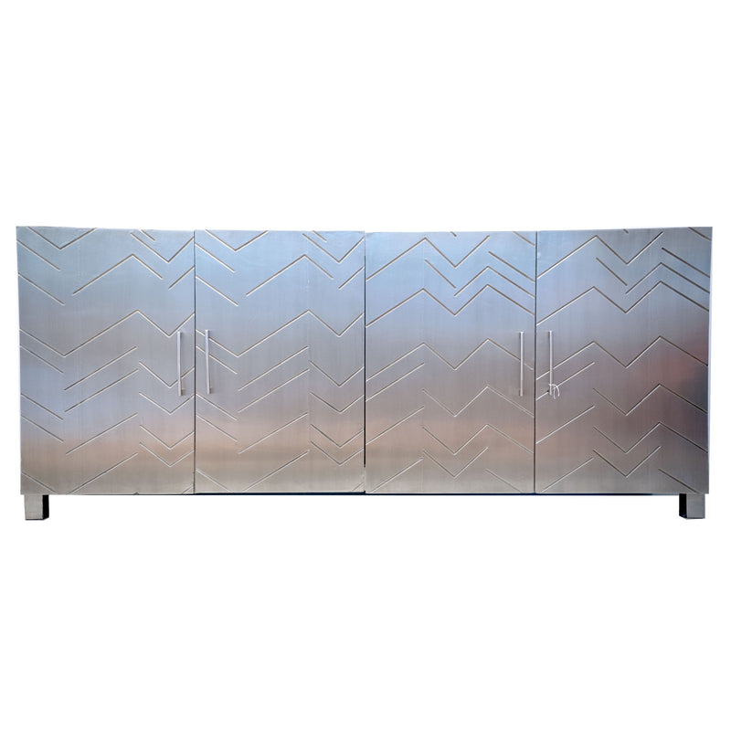 sliver Metal Long Cabinet (plated)
