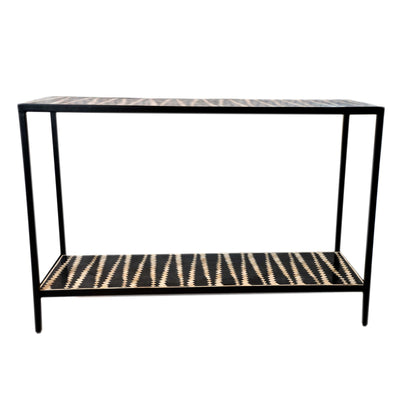 Malawi Bone Inlay Console (Black & White)
