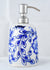 Botnical white Blue Pottery soap dispenser