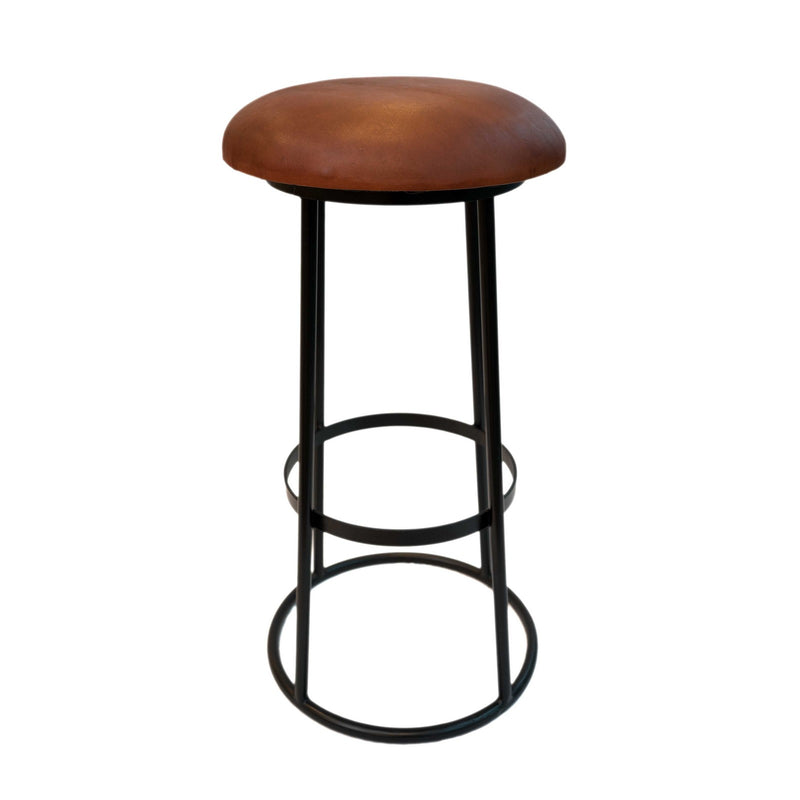 Iron + Leather SILO Bar Stool