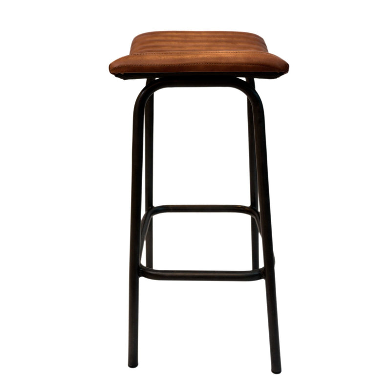 Iron + Leather MICKEY Bar Stool