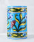 Blue and Yellow botanical hand made pottery vase