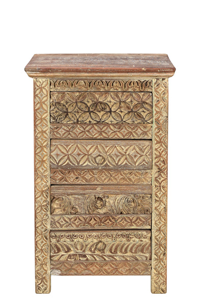 Indian wooden bedside table