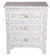 Bedside Table Floral Mother of Pearl (White)