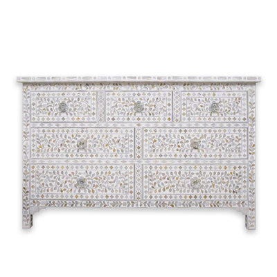 Chest of Drawers Mother of Pearl (White)