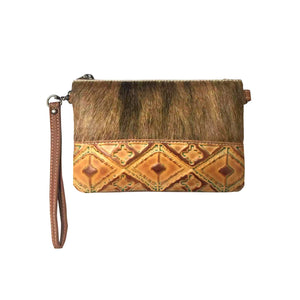 RLH-024 - Real Leather Clutch - Crossbody