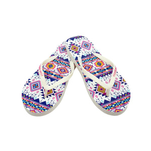 Montana Aztec Collection Women's Flip Flops BY CASE (24PCS) - FF-8007