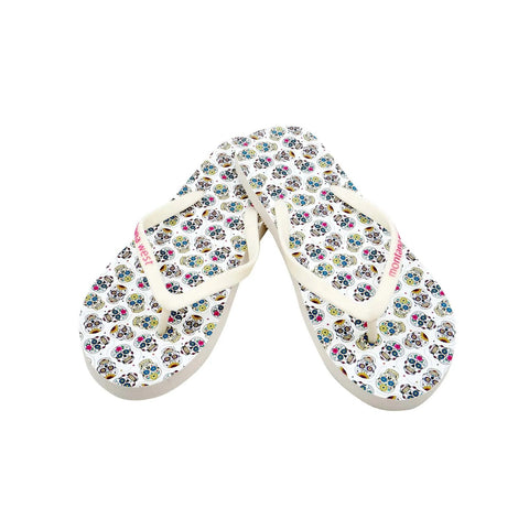 Montana Sugar Skull Collection Women's Flip Flops BY CASE (24PCS) - FF-8012
