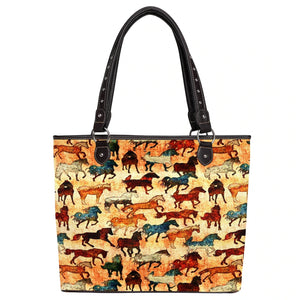 Montana West Horse Collection Canvas Tote Bag - MW927-8112
