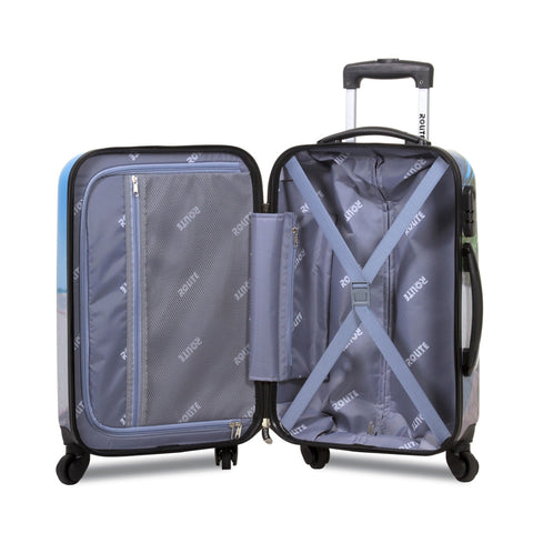 """BEACH"" Hard-side Poly-carbonate 3 pc Luggage Set - RL-215"