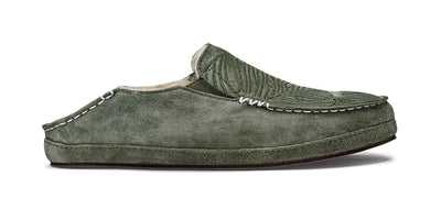 Nohea Slipper | Dusty Olive / Monstera