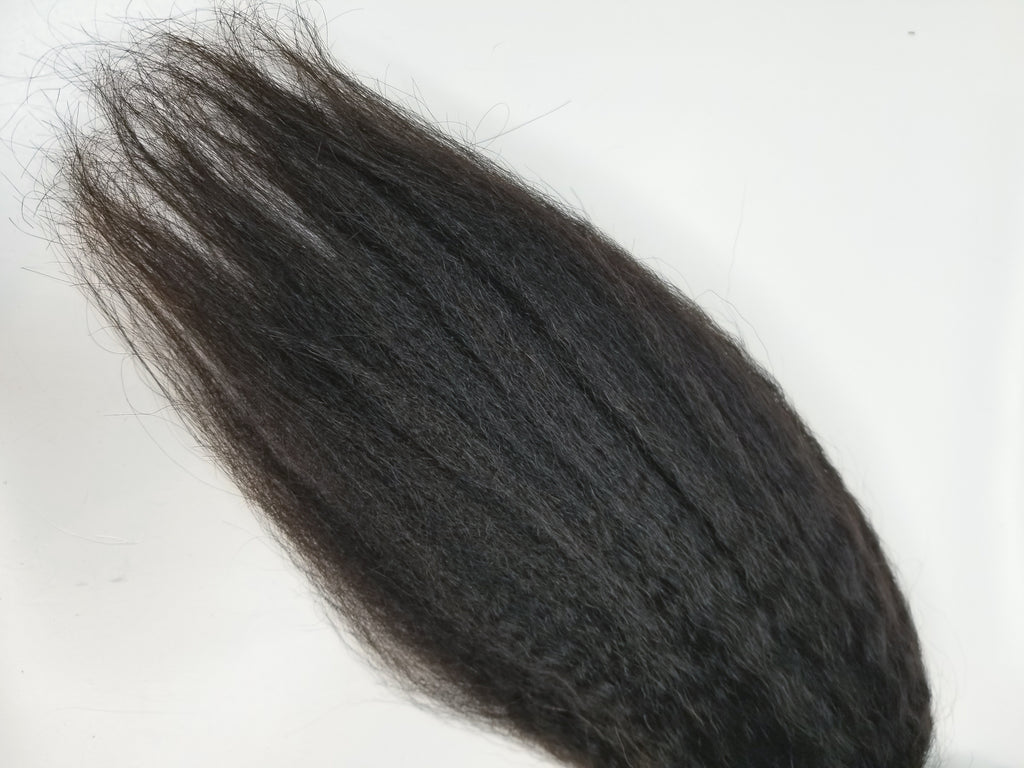 Remy Kinky Straight Closures - Halo SB Hair