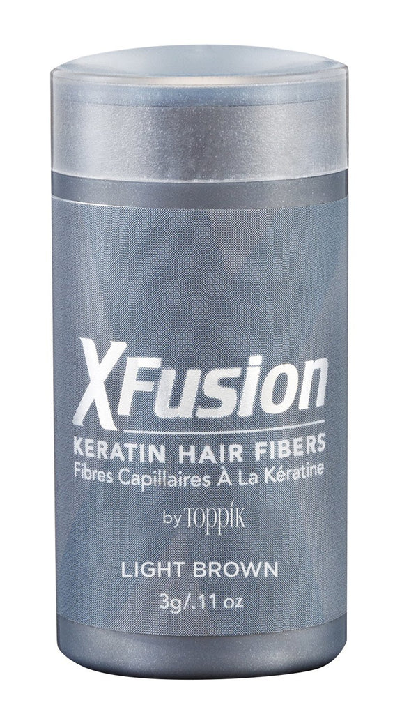 X Fusion Keratin Hair Fibers- Black .11oz - Halo SB Hair