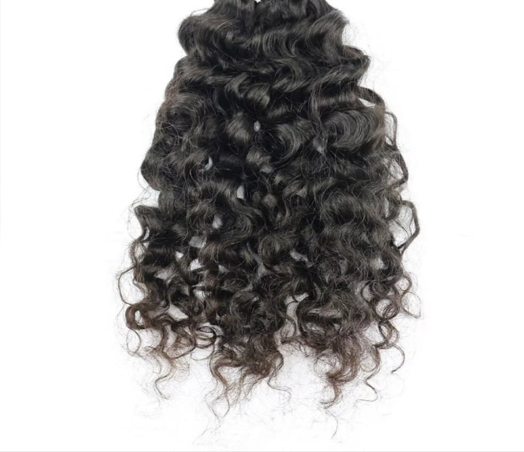Premium Virgin Indian - curly - Halo SB Hair