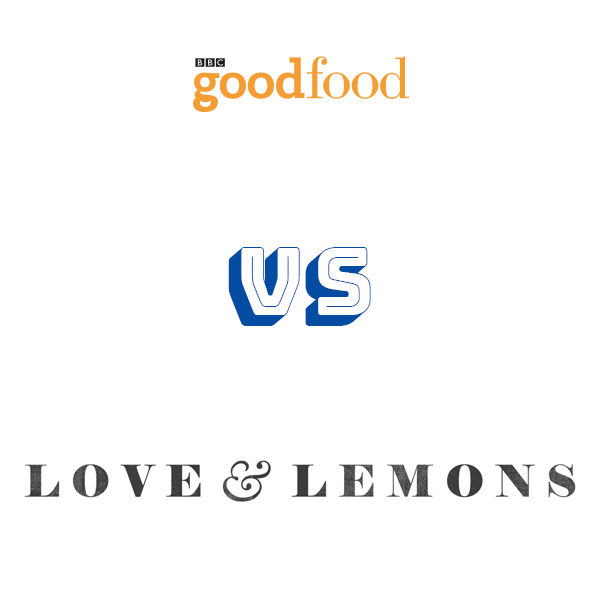 BBC Goodfood vs Love & Lemons logos