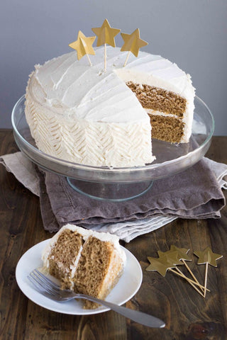 Chai Spice Cake with Vanilla Bean Buttercream (Vegan)