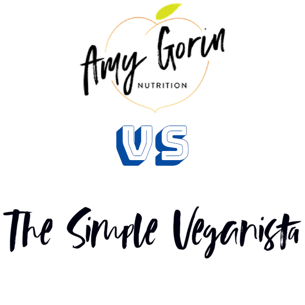 Amy Gorin vs Simple-veganista