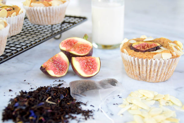 Vegan Fig Earl Grey Cupcakes