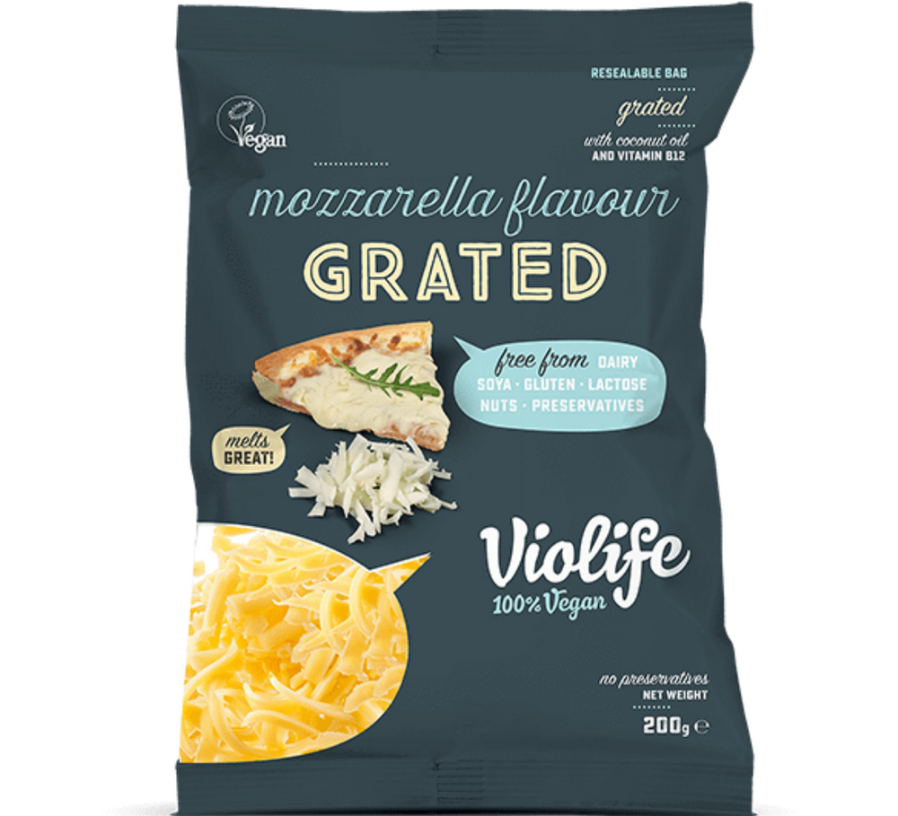 Mozzarella Flavour Grated vegan cheese vegan cheese shop