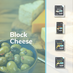 Vegan Feta Greek White Block + Vegan Cheese Original Flavour Block + Vegan Halloumi Cheese Mediterranean Style Block + Vegan Mozzarella Cheese Flavour Block
