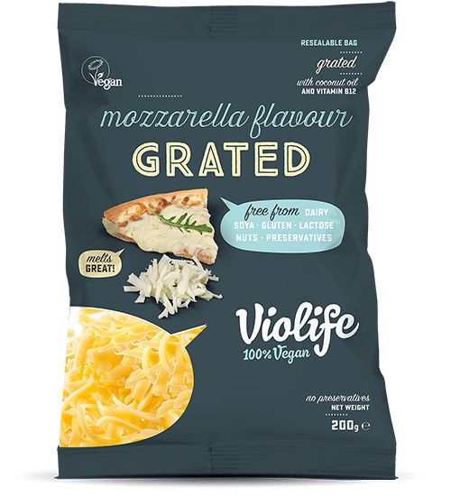 Vegan Mozzarella Cheese Flavour Grated | Vegan Cheese Shop