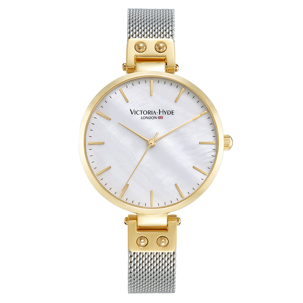 Watch River Thames Mother of Pearl Mesh Bicolor Gold Silver