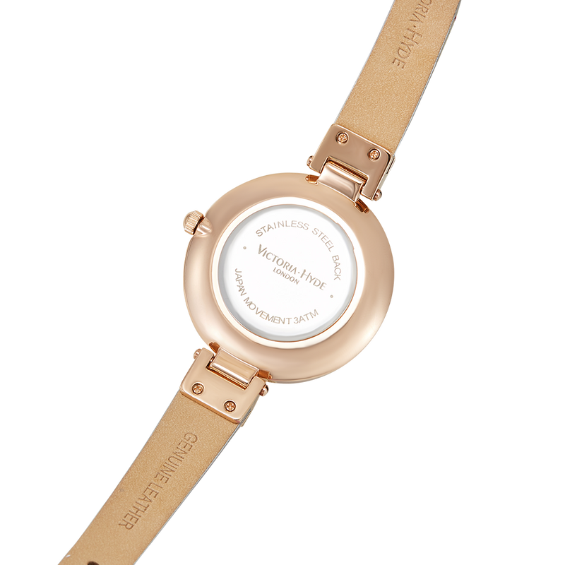 Watch River Thames Pearl Leather Rose Gold Grey