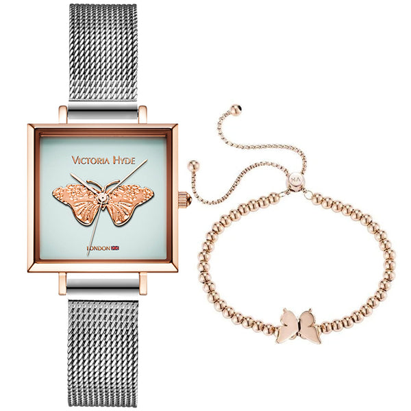 Gift Set Maida Vale Butterfly Edged Silver Rose Gold