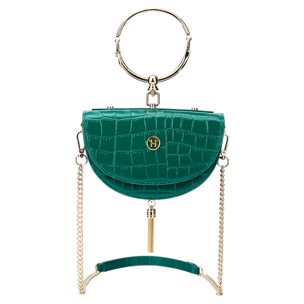 Vintage Half-Moon Bag Green