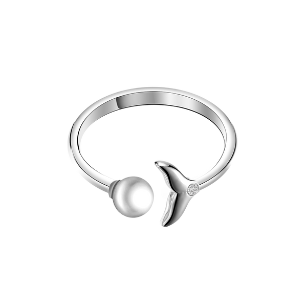 Ring Mermaid Pearl Silver