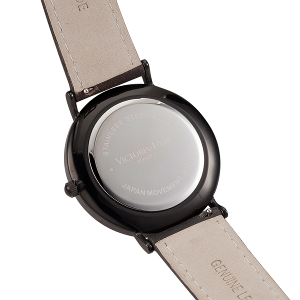 Watch Marble Arch Mineral Leather Dark Brown Black