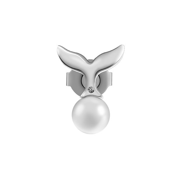 Earring Mermaid Pearl Silver
