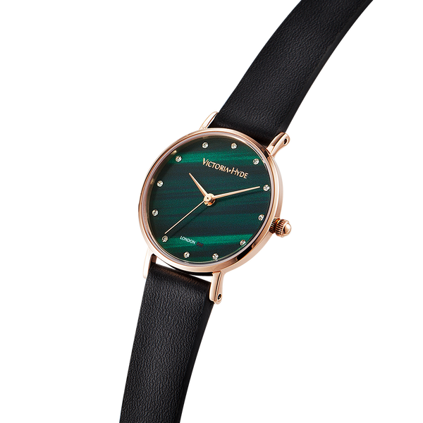 Watch Loughton Pearl Leather Black Green