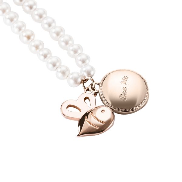 Bracelet Perivale Bee Pearl Rose Gold