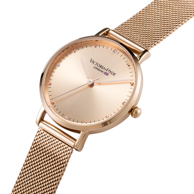 Watch Metropolitan Crystal Mesh Rose Gold
