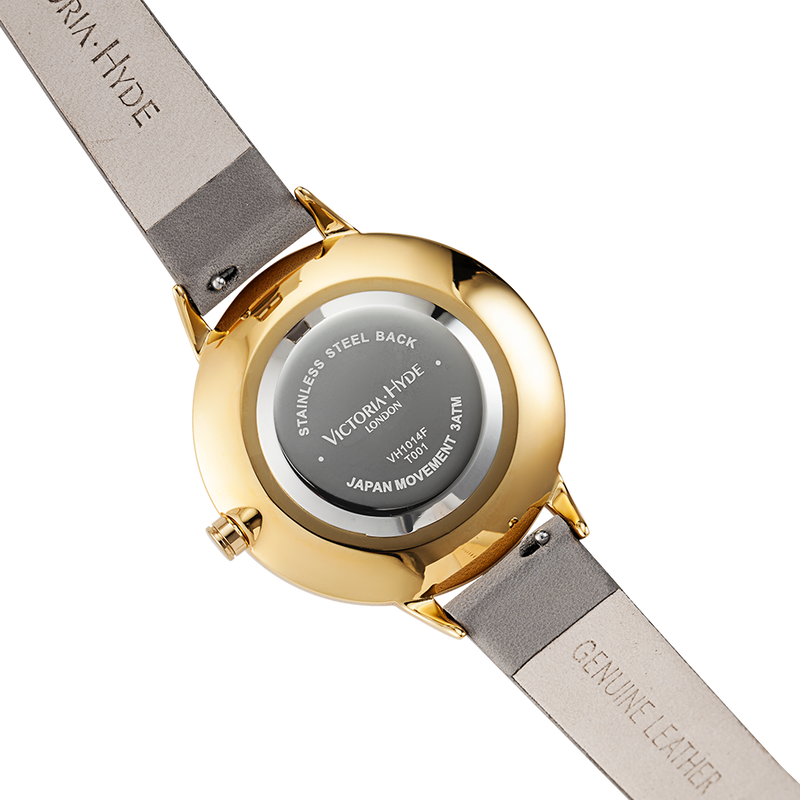 Watch Maida Vale Bird Leather Grey Gold