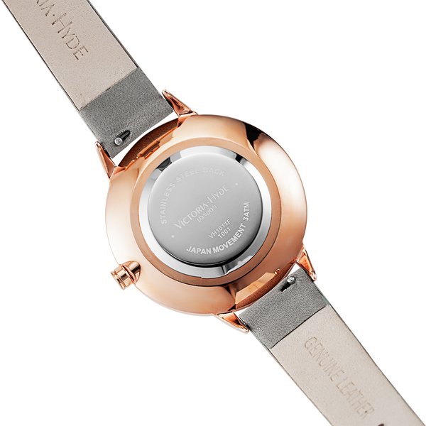 Watch Maida Vale Bird Leather Grey Rose Gold