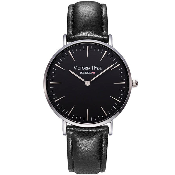 Watch Southfields Modern Leather Black Silver