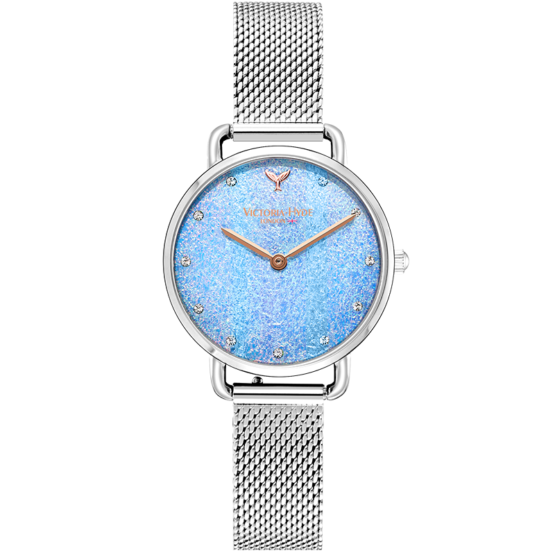 Watch Galaxy Sparkle Mesh Silver Blue