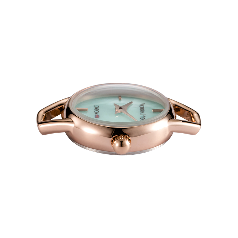 Watch Oxford Circus Round Mesh Rose Gold Light Blue