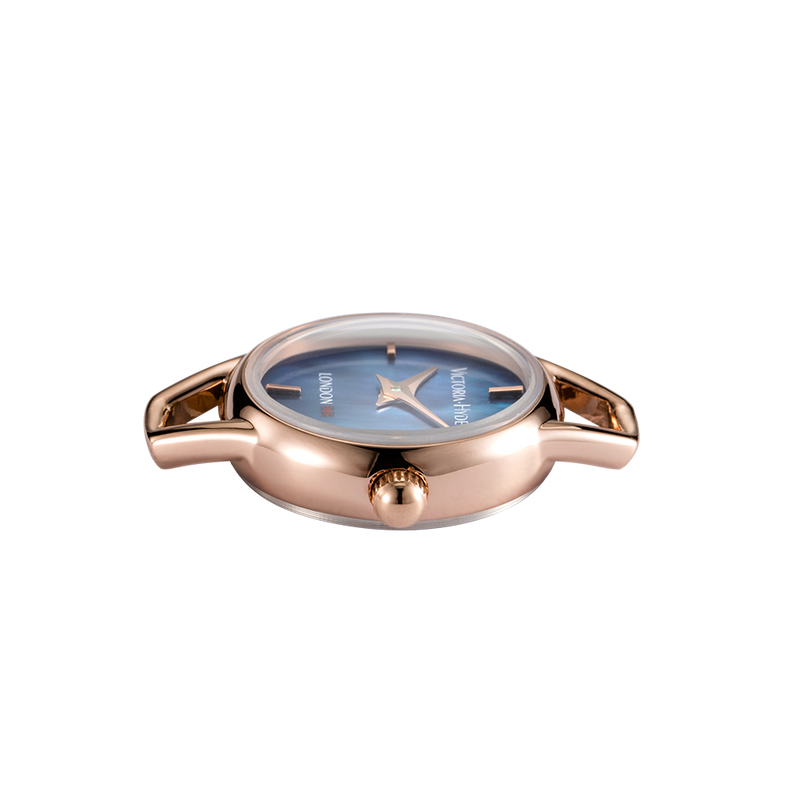 Watch Oxford Circus Round Mesh Rose Gold Blue