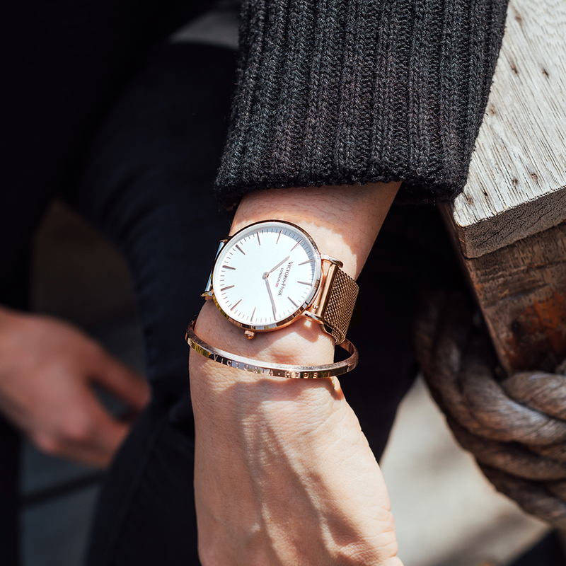 Watch Metropolitan Modern Mesh Rose Gold White