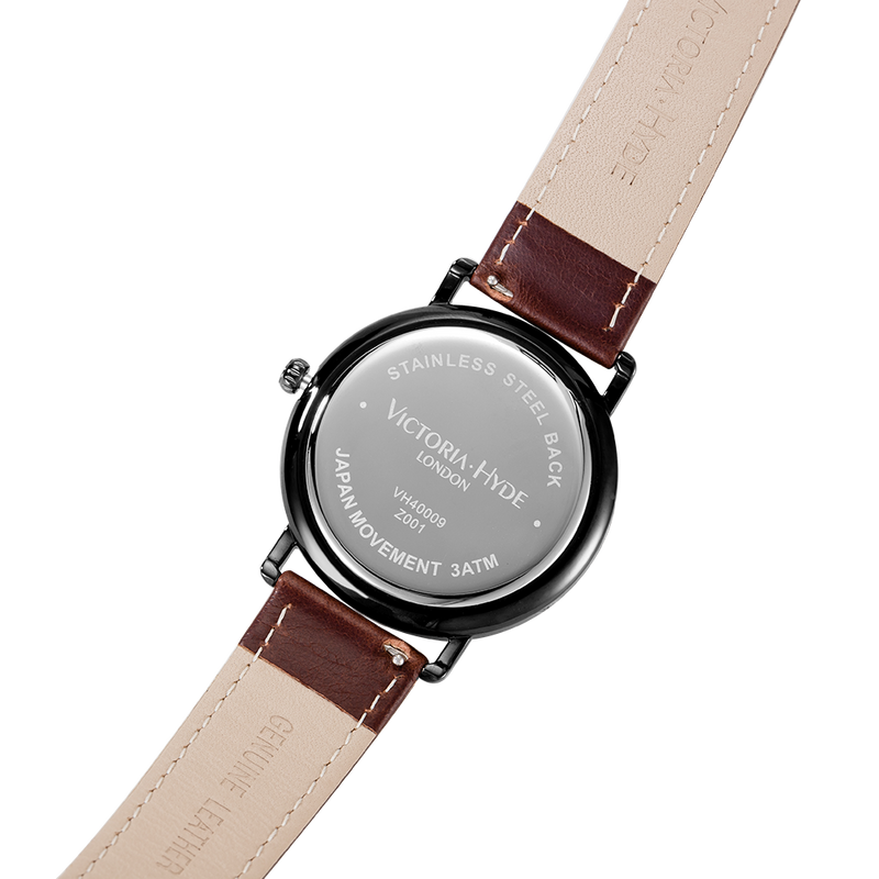 Watch Grange Hill Date Leather Brown Black