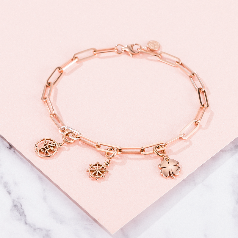 Bracelet Clips Rose Gold