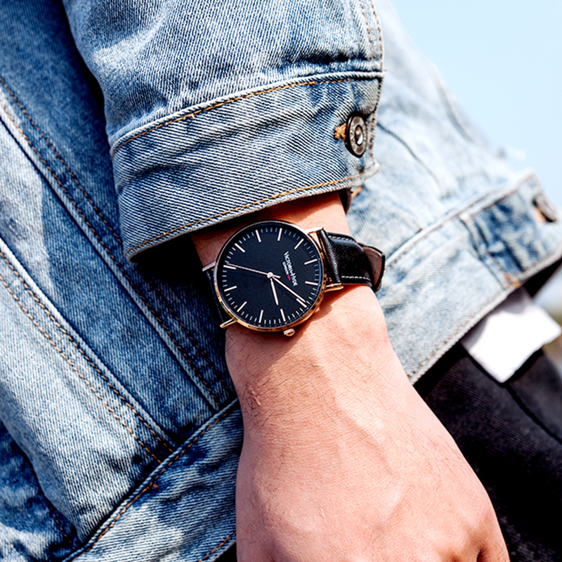Watch Southfields Classic Leather Black