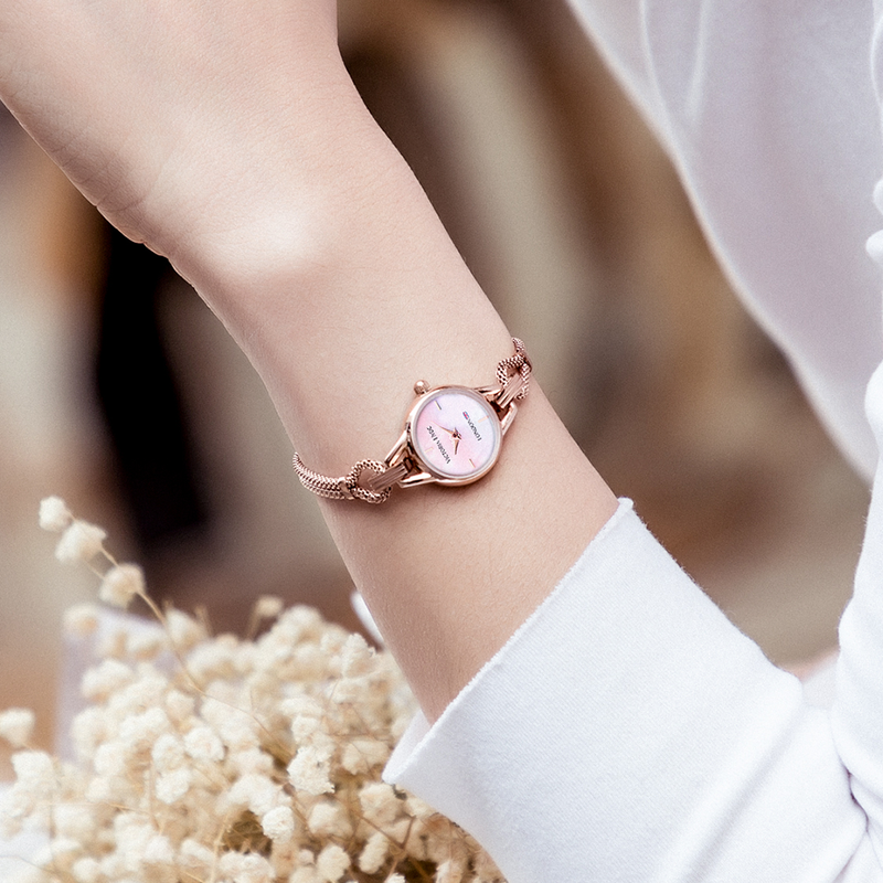 Oxford Circus Mesh Rose Gold Round