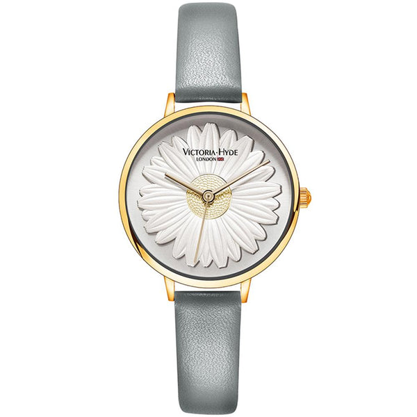 Watch Maida Vale Daisy Leather Grey Gold