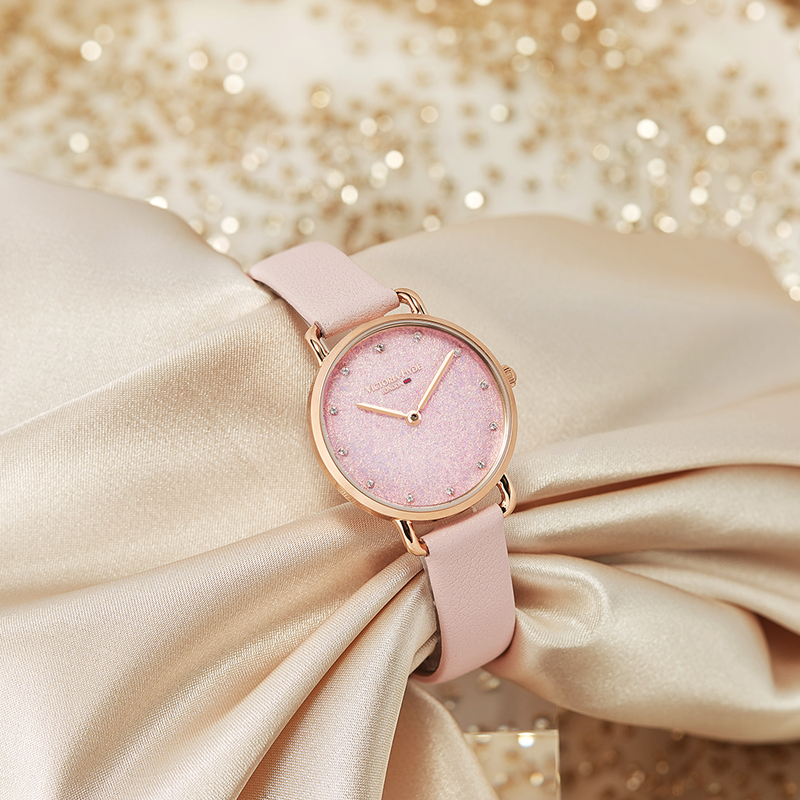 Watch Galaxy Sparkle Leather Rose