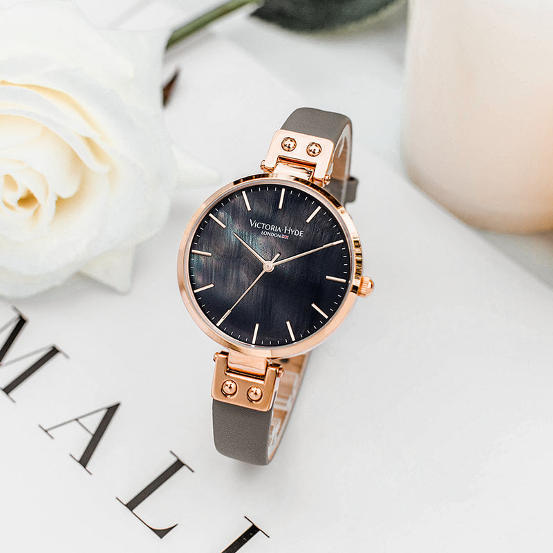 Watch River Thames Mother of Pearl Leather Rose Gold Grey